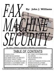Cover of: Fax Machine Security | John J. Williams