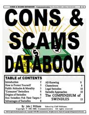 Cover of: Cons & Scams Databook | John J. Williams