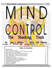 Cover of: Mind Control by John J. Williams