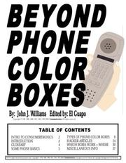 Cover of: Beyond Phone Color Boxes | John J. Williams