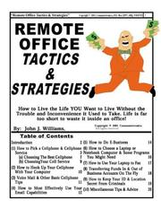 Cover of: Remote Office Tactics & Strategies by John J. Williams