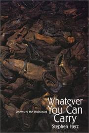 Cover of: Whatever You Can Carry | Stephen Herz