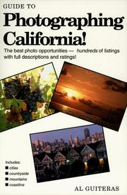 Cover of: Guide to Photographing California | Al Guiteras