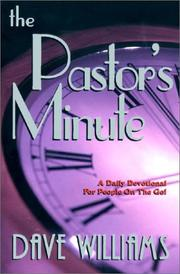 Cover of: The Pastor's Minute by Dave Williams