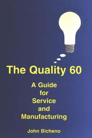 Cover of: The Quality 60 | John Bicheno