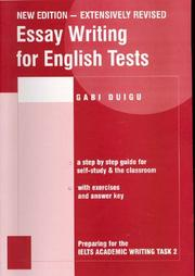 Cover of: Essay Writing for English Tests | Gabi Duigu