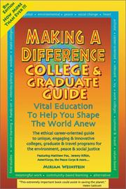 Cover of: Making a Difference | Miriam Weinstein