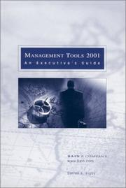 Cover of: Management Tools 2001 by Darrell K. Rigby