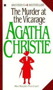 Cover of: Murder at the Vicarage | Agatha Christie