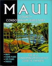 Cover of: Maui County Condominium Directory | J. F. Brown