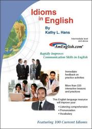 Cover of: Idioms in English by Kathy L. Hans