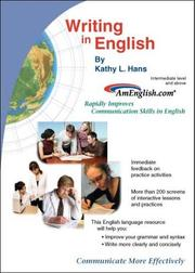 Cover of: Writing in English | Kathy L. Hans