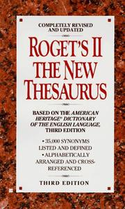 Cover of: Roget's ii | Unauthored