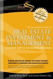 Cover of: The SuccessDNA Guide to Real Estate Investment & Management | Garrett Sutton