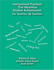 Cover of: Instructional Practices That Maximize Student Achievement by William B. Ribas