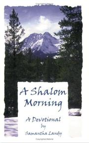 Cover of: A Shalom Morning | Samantha Landy