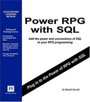 Cover of: Power RPG with SQL | Daniel Jacobs
