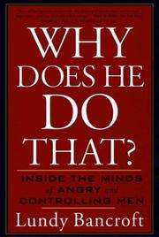 Cover of: Why does he do that? | Lundy Bancroft