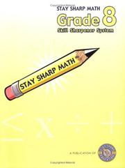 Cover of: Stay Sharp Math Grade 8 Skill Sharpener System by Melinda Grove