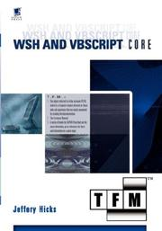 Cover of: WSH and VBScript Core by Jeffery Hicks