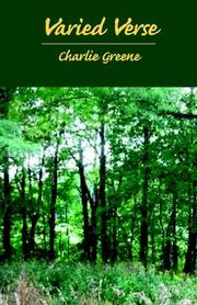 Cover of: Varied Verse | Charlie Greene