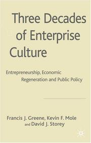 Cover of: Three Decades of Enterprise Culture? by David Storey