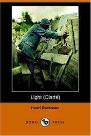 Cover of: Light/clarte | Henri Barbusse