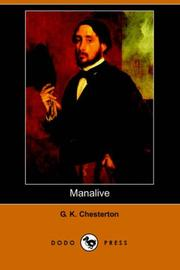 Cover of: Manalive by G. K. Chesterton