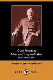 Cover of: Cecil Rhodes | Princess Catherine Radziwill