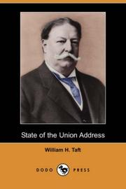 Cover of: State of the Union Address | William H. Taft