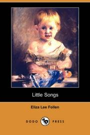 Cover of: Little Songs | Eliza Lee Follen