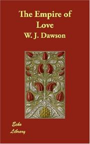 Cover of: The Empire of Love | William James Dawson (poet)