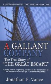 Cover of: A Gallant Company | Jonathan F. Vance