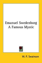 Cover of: Emanuel Swedenborg | W. P. Swainson