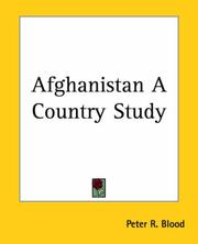 Cover of: Afghanistan A Country Study | Peter R. Blood