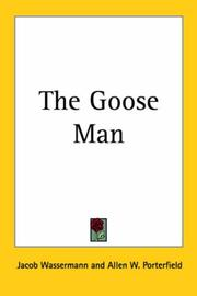 Cover of: The Goose Man | Jakob Wassermann