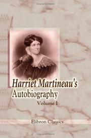 Cover of: Autobiography by Martineau, Harriet