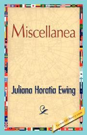 Cover of: Miscellanea by Juliana Horatia Gatty Ewing