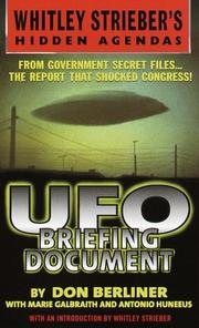 Cover of: UFO Briefing Document by Don Berliner