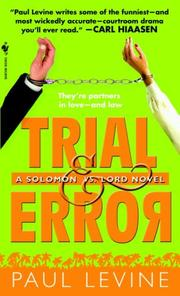 Cover of: Trial & Error by Levine, Paul