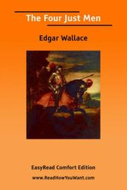 Cover of: The four just men | Edgar Wallace