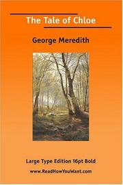 Cover of: The Tale of Chloe | George Meredith