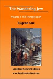 Cover of: The Wandering Jew Volume 1 | Eugène Sue