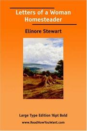 Cover of: Letters of a Woman Homesteader | Elinore Stewart