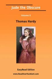 Cover of: Jude the Obscure Volume II by Thomas Hardy
