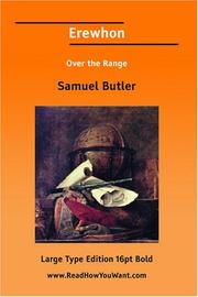 Cover of: Erewhon Over the Range | Samuel Butler