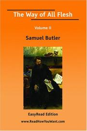 Cover of: The Way of All Flesh Volume II | Samuel Butler