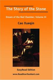 Cover of: The Story of the Stone | Xueqin Cao
