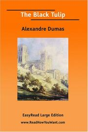 Cover of: Tulipe noire by Alexandre Dumas