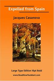 Cover of: Expelled from Spain | Jacques Casanova